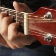 Guitarist Playing Acoustic Guitar — Stock Photo