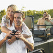 Two couples on trip — Stock Photo #33821467