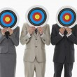 Stock Photo: Business people holding targets