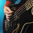 Bass Guitarist  — Stock Photo