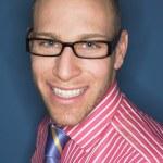 Man in glasses smiling — Stock Photo #33825731