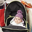 Baby sitting in stroller — Stock Photo #33826865