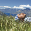 Man lying in field — Stock Photo #33827815