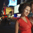 Couple in City at Night — Stock Photo #33828029
