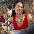 Couple holding cocktails — Stock Photo