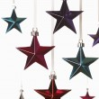 Christmas star ornaments — Stockfoto