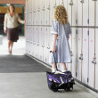 School Girl Waiting For Her Mother — Stock Photo #33828901