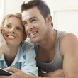 Couple Watching Television Together — Stock Photo