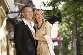 Elegant couple on London street — Stock Photo