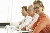 Businesswoman in conference meeting — Stock Photo