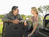 Man and woman talking — Stock Photo
