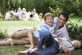 Father and Sons at Family Picnic — Stock Photo