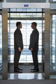 Businessmen Standing Face to Face — Stock Photo