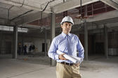 Site manager on construction site — Stock Photo
