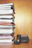 Paperwork and telephone — Stock Photo