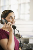 Office worker on phone — Stock Photo