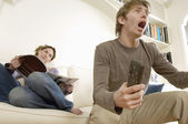 Man Watching Television — Stock Photo