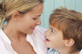 Mother and Son looking at each other — Stock Photo
