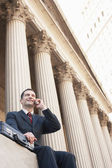 Succesful lawyer speaking on mobile phone — Stock Photo