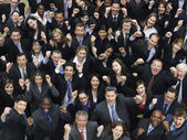 Business people cheering — Stock Photo