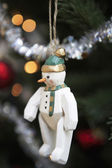 Snowman christmas decoration — Stock Photo