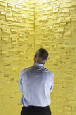 Overwhelming Amount of Post-it Notes — Stock Photo