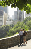 Couple walking in park — Stock Photo