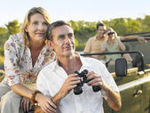 Two couples on trip — Stock Photo
