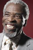 Afrikaanse man die lacht — Stockfoto