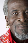 African Man with Earrings — Stock Photo