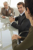 Businesspeople in conference meeting — Stock Photo