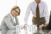 Business woman in conference meeting — Stock Photo