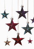 Christmas star ornaments — Foto Stock