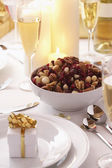 Place Setting at Christmas — Stock Photo