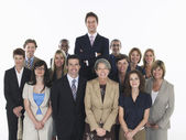 Group of smiling businesspeople — Stok fotoğraf