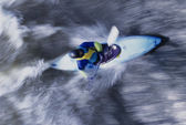 Kayaker paddling through Rapids — Stock Photo