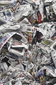 Pile of scrunched up newspapers — Stock Photo