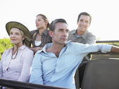 Tourists on safari — Stock Photo