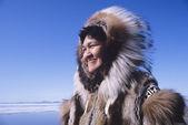 Smiling Eskimo Woman — Stock Photo
