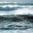 Stok fotoğraf: Waves Crashing near Shoreline