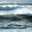 Stock Photo: Waves Crashing near Shoreline