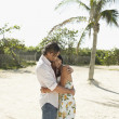 Couple Hugging on Beach — Stock Photo