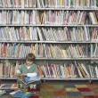 Stock Photo: Boy with Picture Books