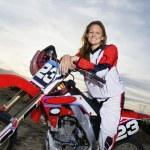 Motocross racer on bike — Stock Photo #33831205