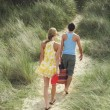 Couple Leaving Beach on Trail — Stock Photo #33831213
