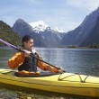 Stock Photo: Mpaddling kayak