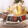 Setting at Christmas — Stock Photo
