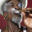 Stock Photo: AfricMSmoking Cigar
