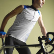 Stock Photo: Male Bicyclist