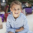 Boy at Christmas — Stock Photo